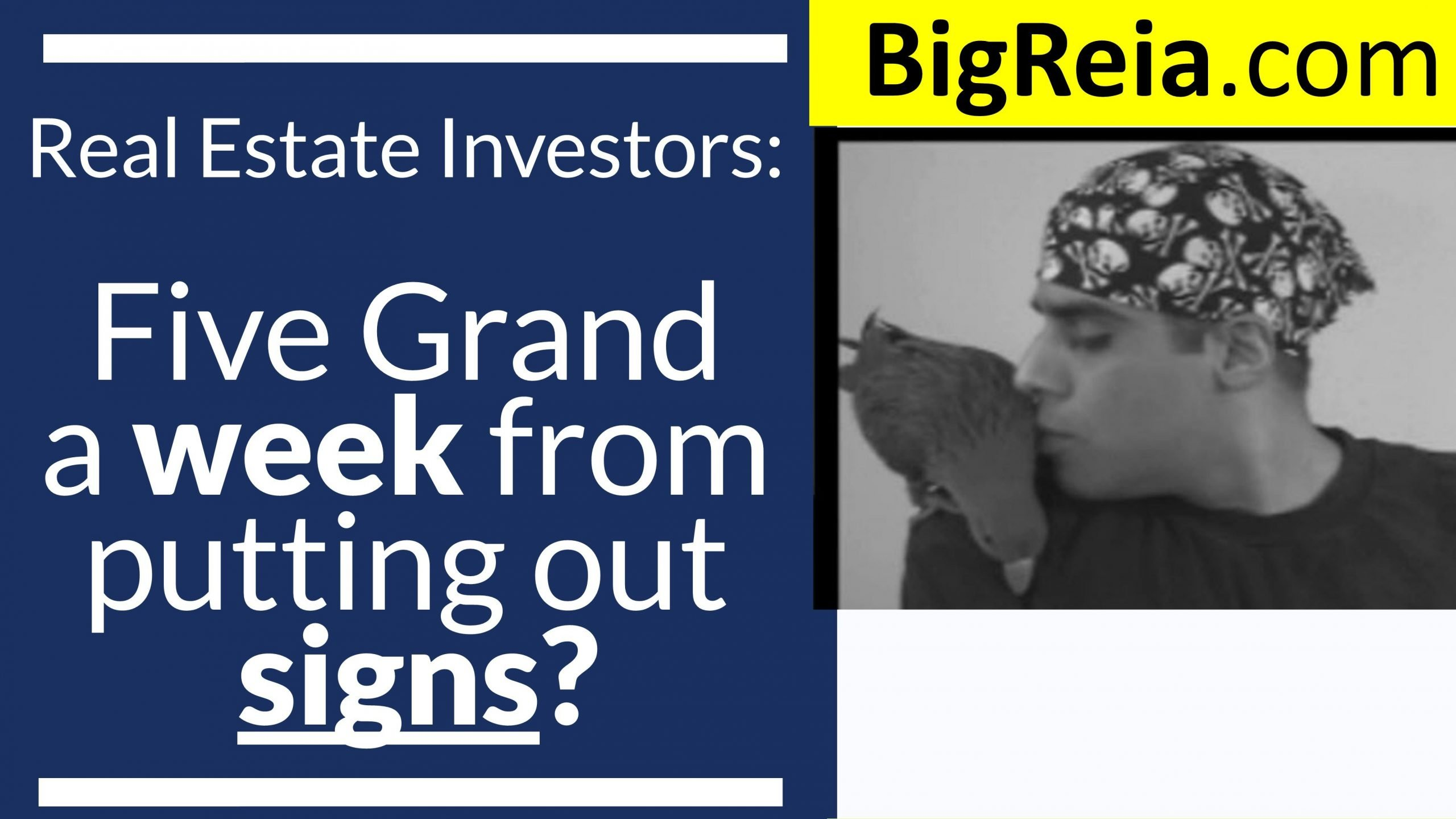 How to make five grand a week just from putting out signs, real estate investor badassery with signs.