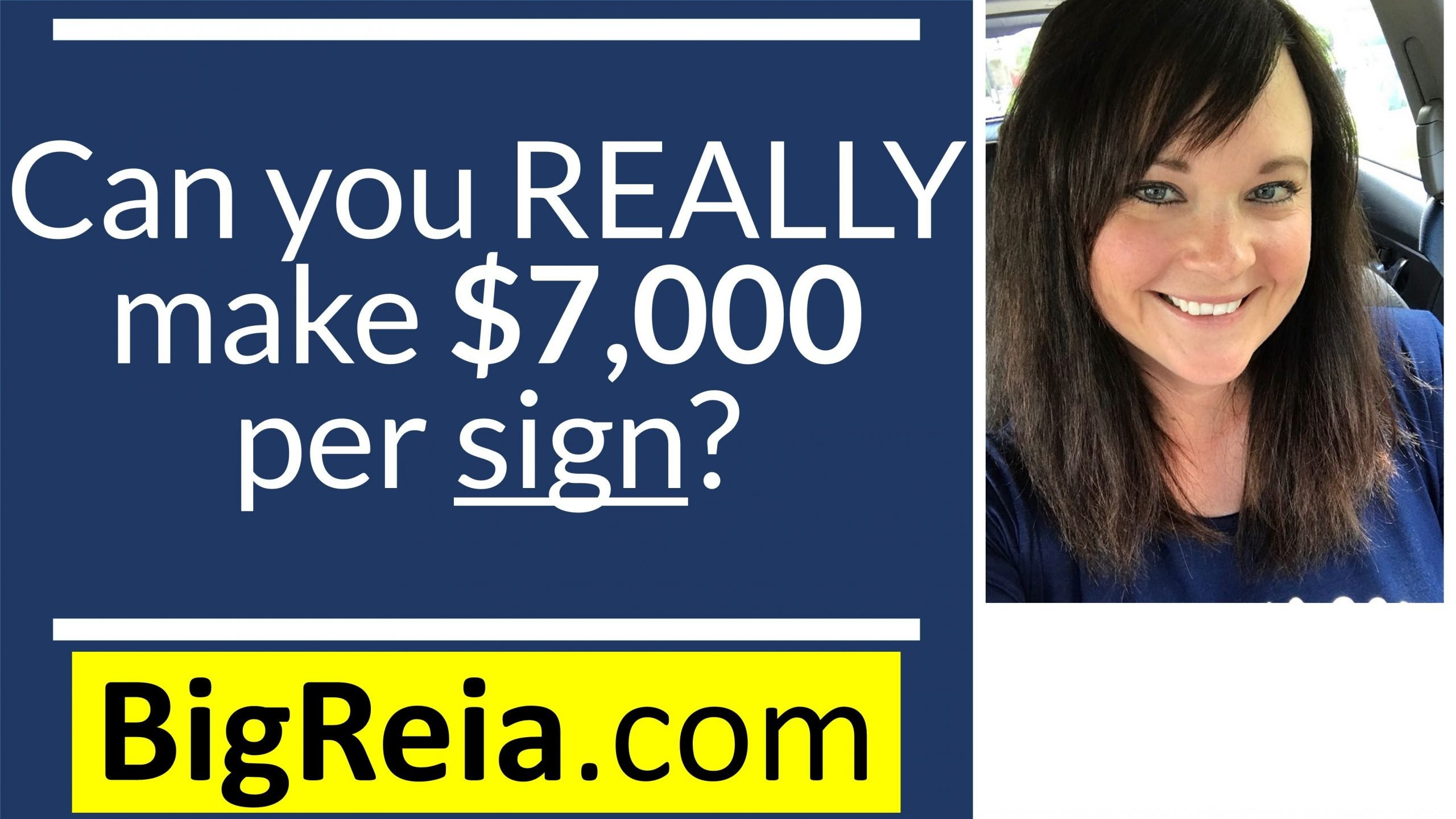 Can a real estate investor REALLY make over $7,000 per sign?