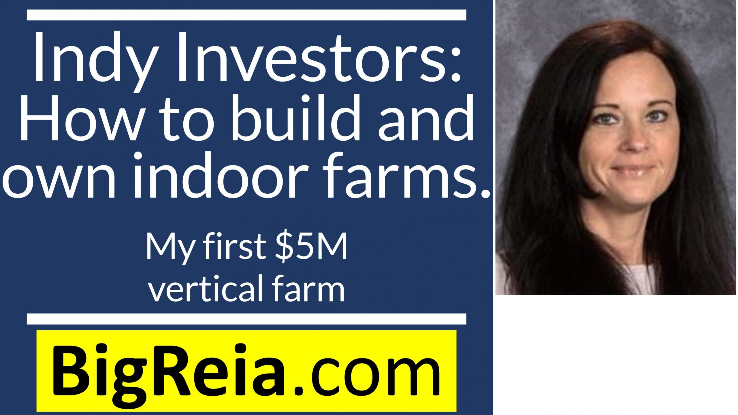 Indy real estate investors here's how to help inner cities: start and own $5M indoor vertical farms zero down.