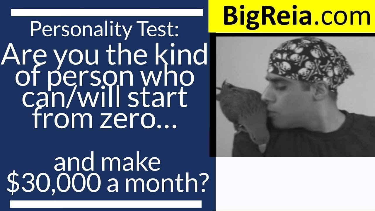 Millionaire Personality Test: are you the kind of person to take your real estate business from zero to 30k/month?