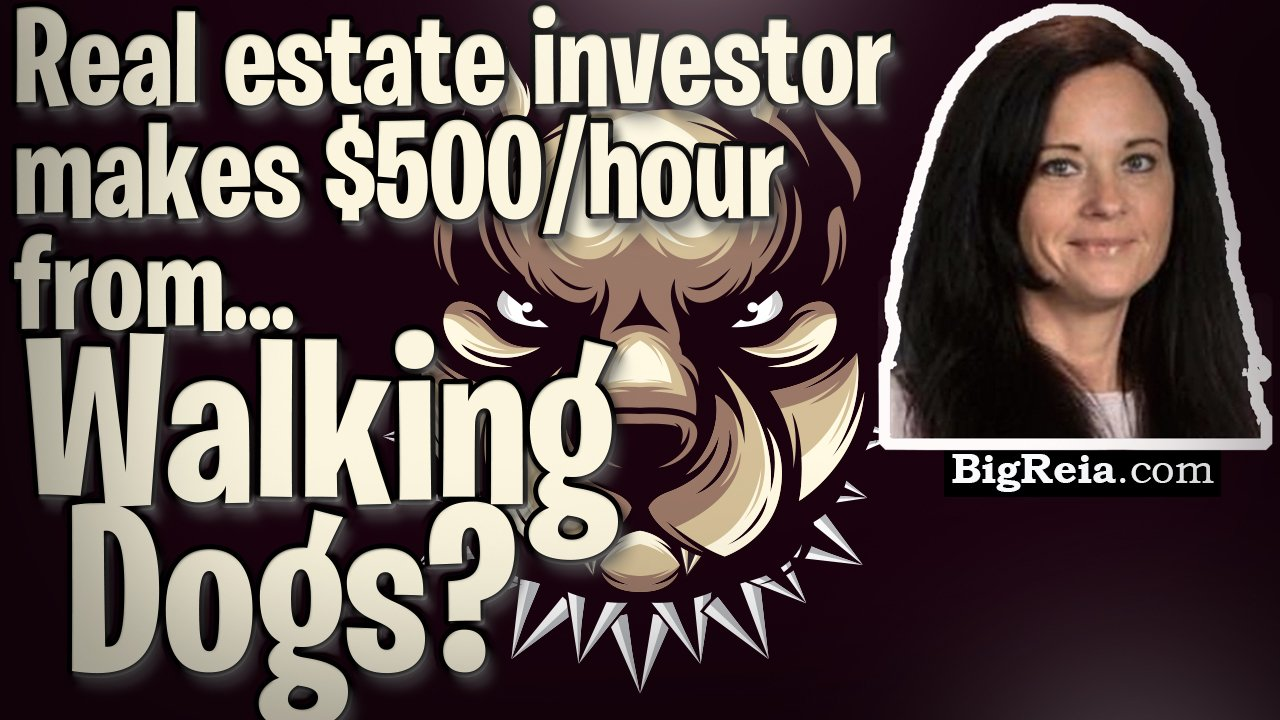Real estate investor makes $500/hour from walking dogs?  How to get motivated seller leads for FREE from dog walkers.