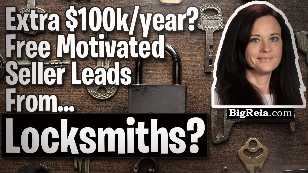 Free motivated sellers leads from locksmiths, investor makes over $100k/year from this one source.