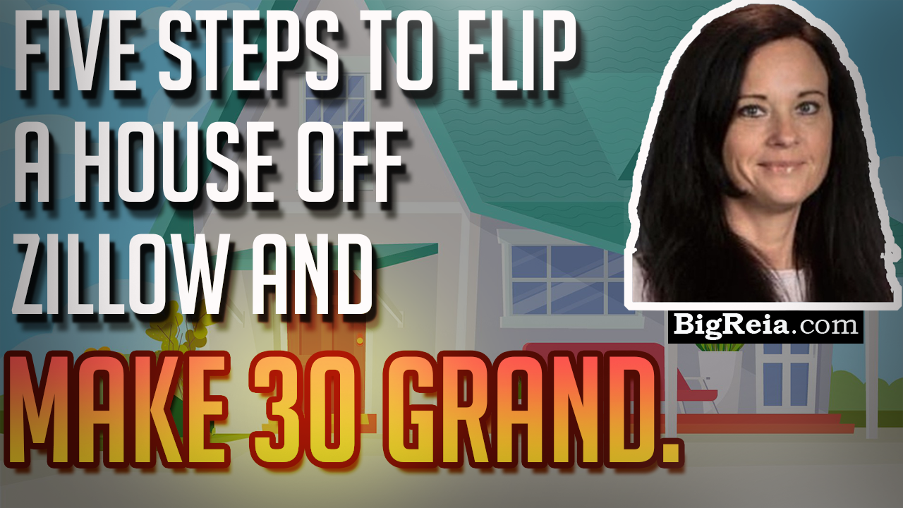 Five steps to flip a house off Zillow for 30-40 grand.  Real estate wholesalers do this wrong.