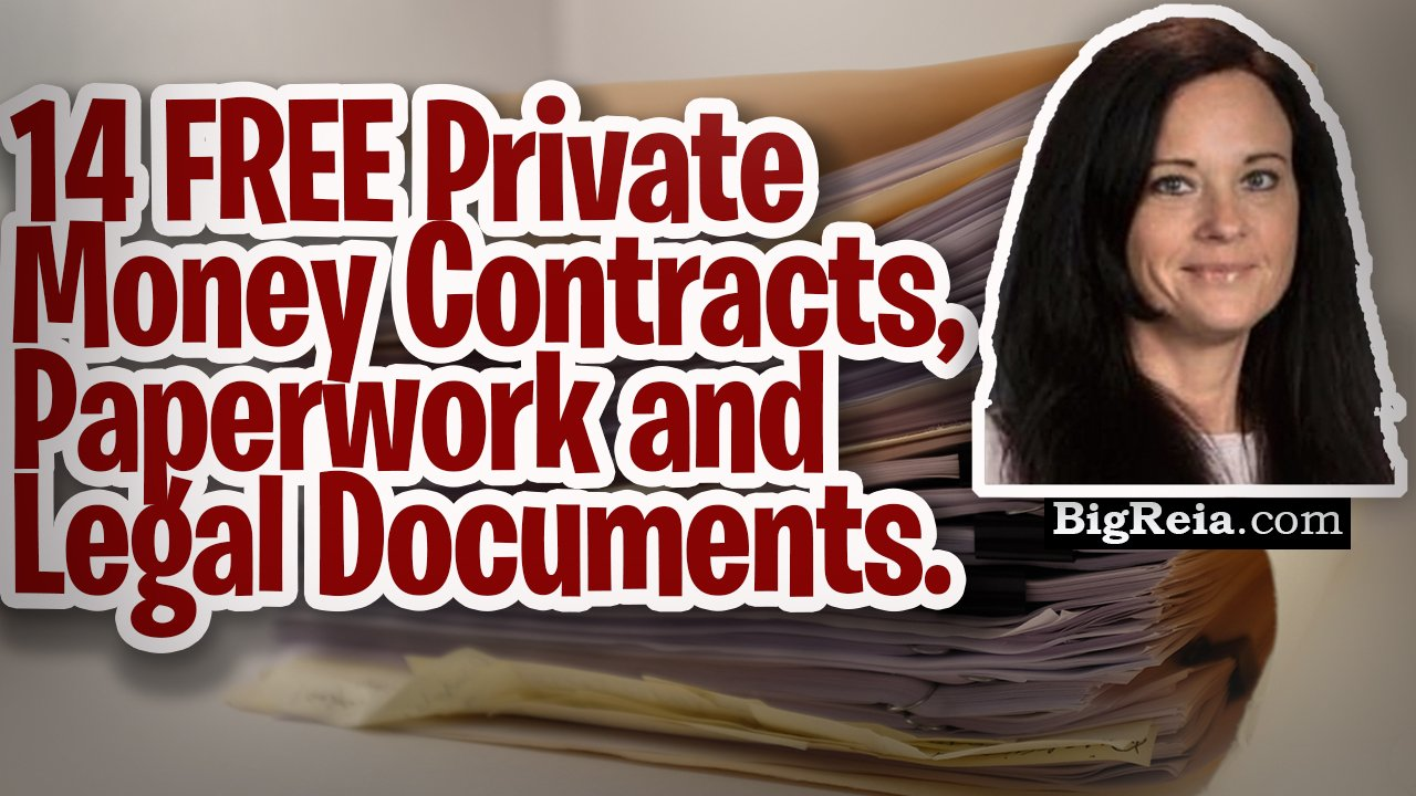 Private money contracts: here are 14 contracts, paperwork and legal forms for real estate investors.