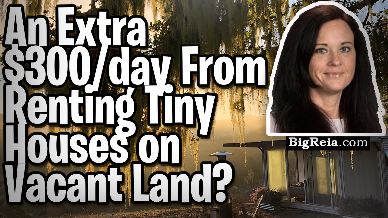 """""""How I'm making an extra $300 a day renting Tiny Houses on vacant land."""" Indy real estate fast money"""