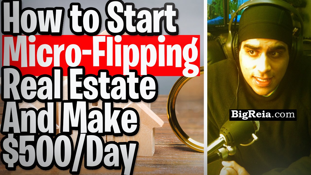 How to start micro-flipping real estate zero down from your house and make $500/day, speed wholesale lease options the same day.