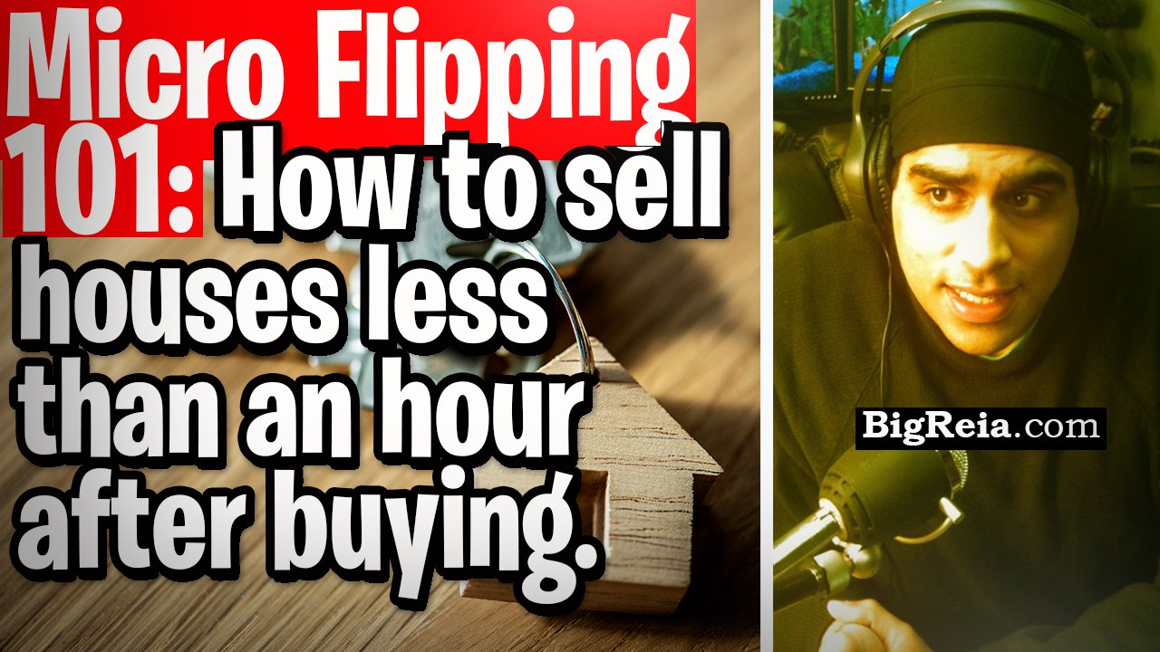 Micro Flipping 101: how to buy, sell and close lease option houses the same day with better buyers?