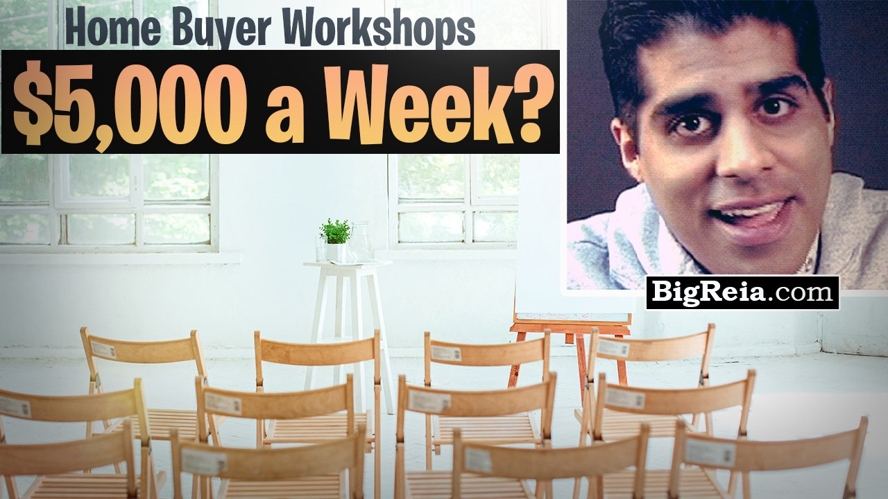 """""""How I'm making an extra $5,000 a week from FREE home buying seminars"""" Real estate investor lead gen"""