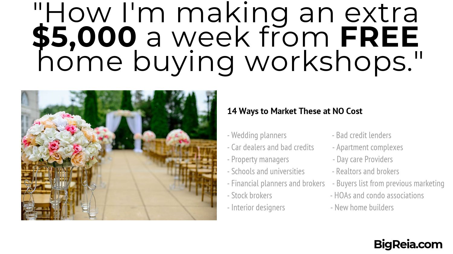 14 ways to promote free home buyer workshops