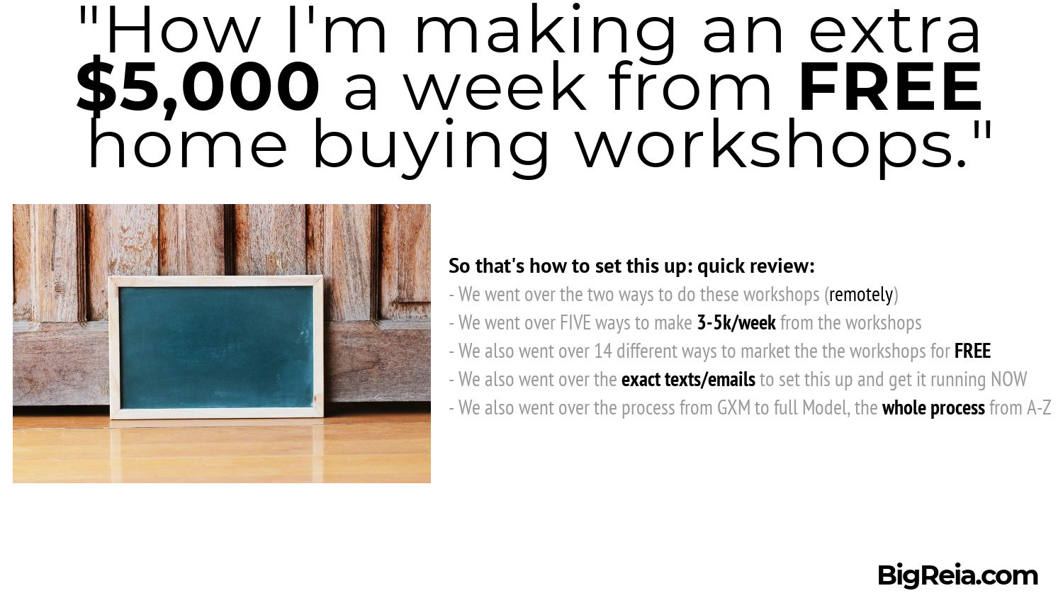 Home buyer workshop for 5k summary