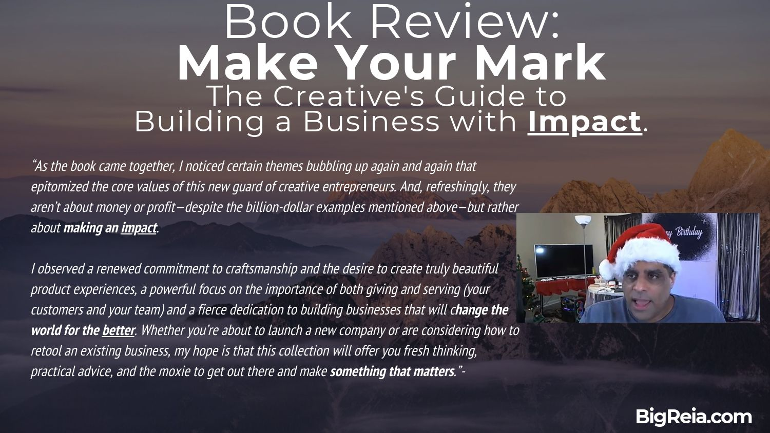 Azam's book review of Make Your Mark