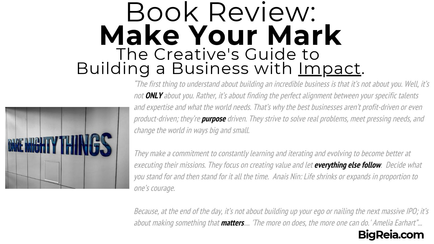 Make Your Mark book review