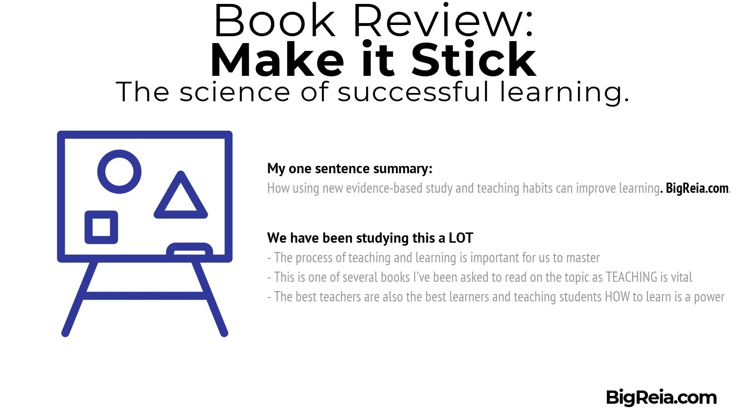 Azam's one sentence book review of Make it Stick