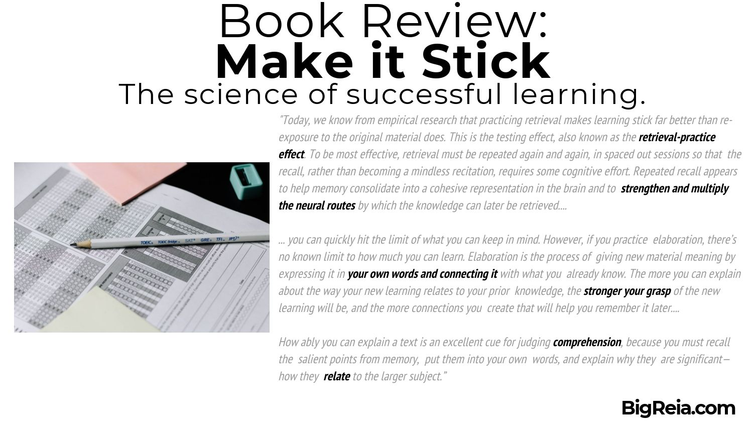 Make it stick book review excerpt 3