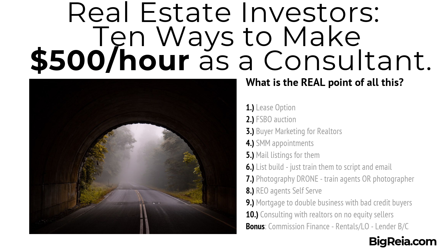 10 ways to make 500/hour as a real estate consultant