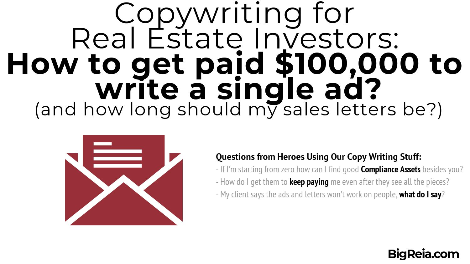 Intro to copywriting for real estate investors
