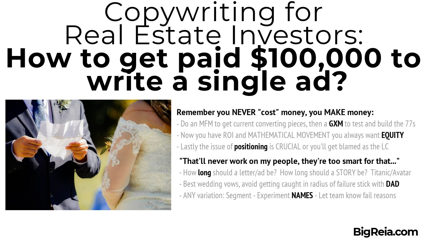 Real estate copywriting conclusions