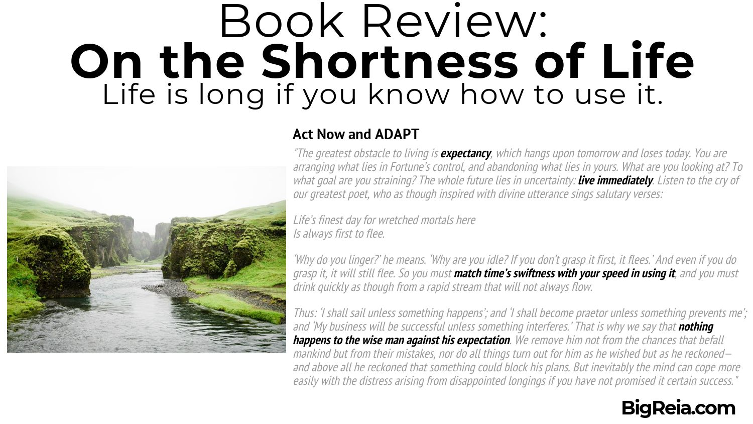 Seneca book review act now and adapt quote