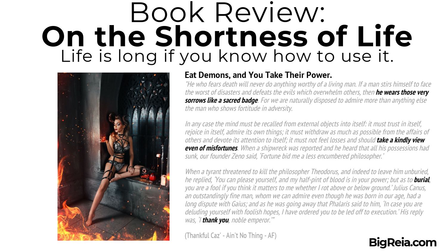 Seneca book review quote about eating fears