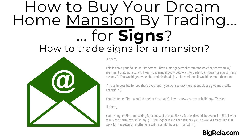 Emails to copy and paste for mansions - BigReia.com