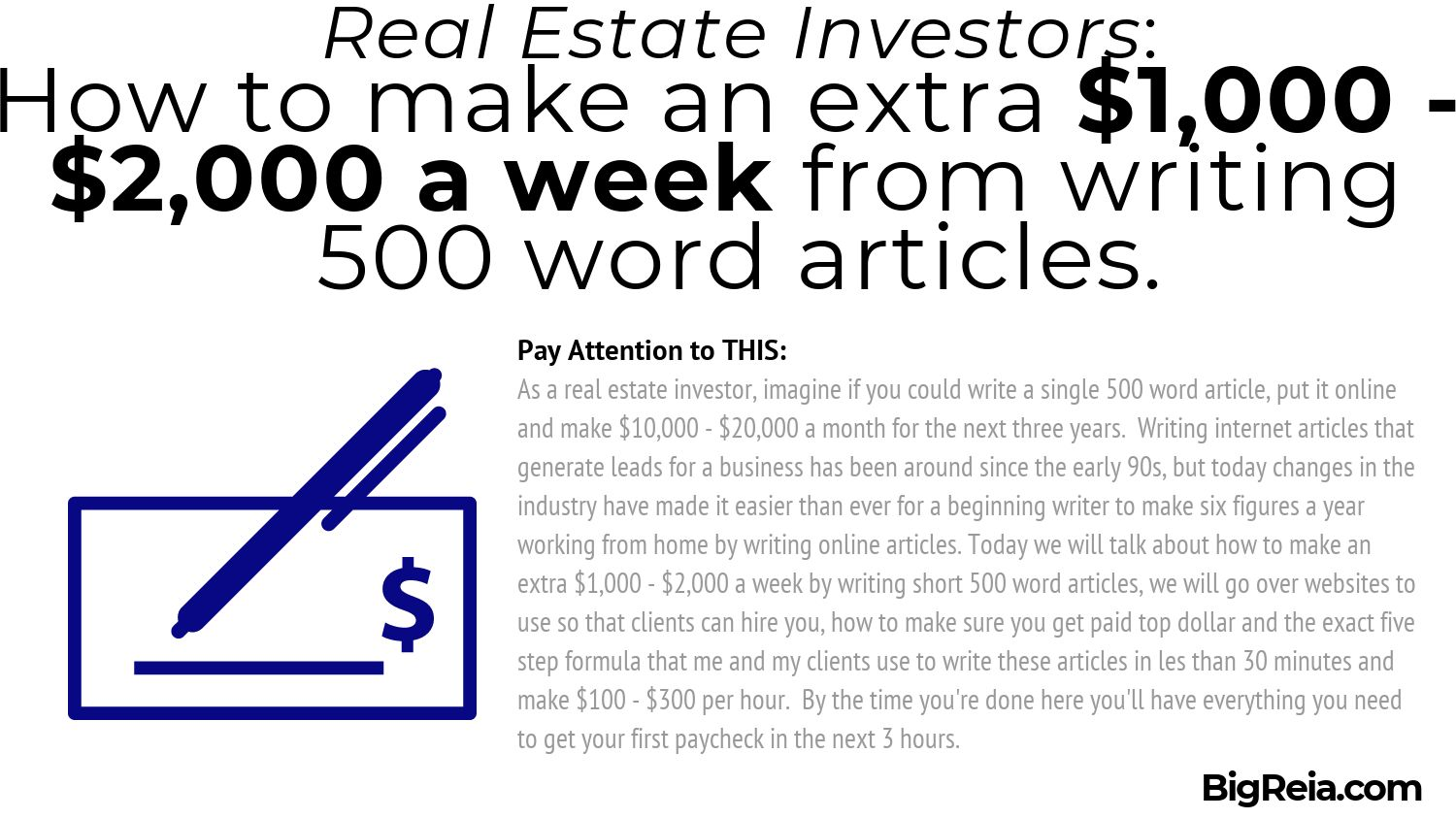 500 word article first paragraph algorithm