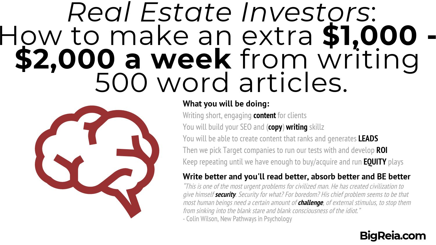 Real estate investors need to improve their copywriting skills