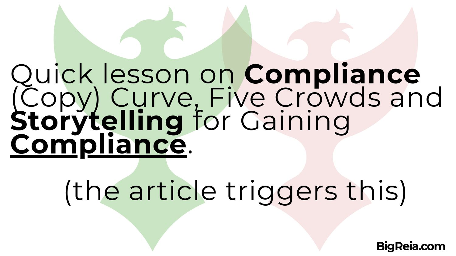 Story telling for compliance gaining