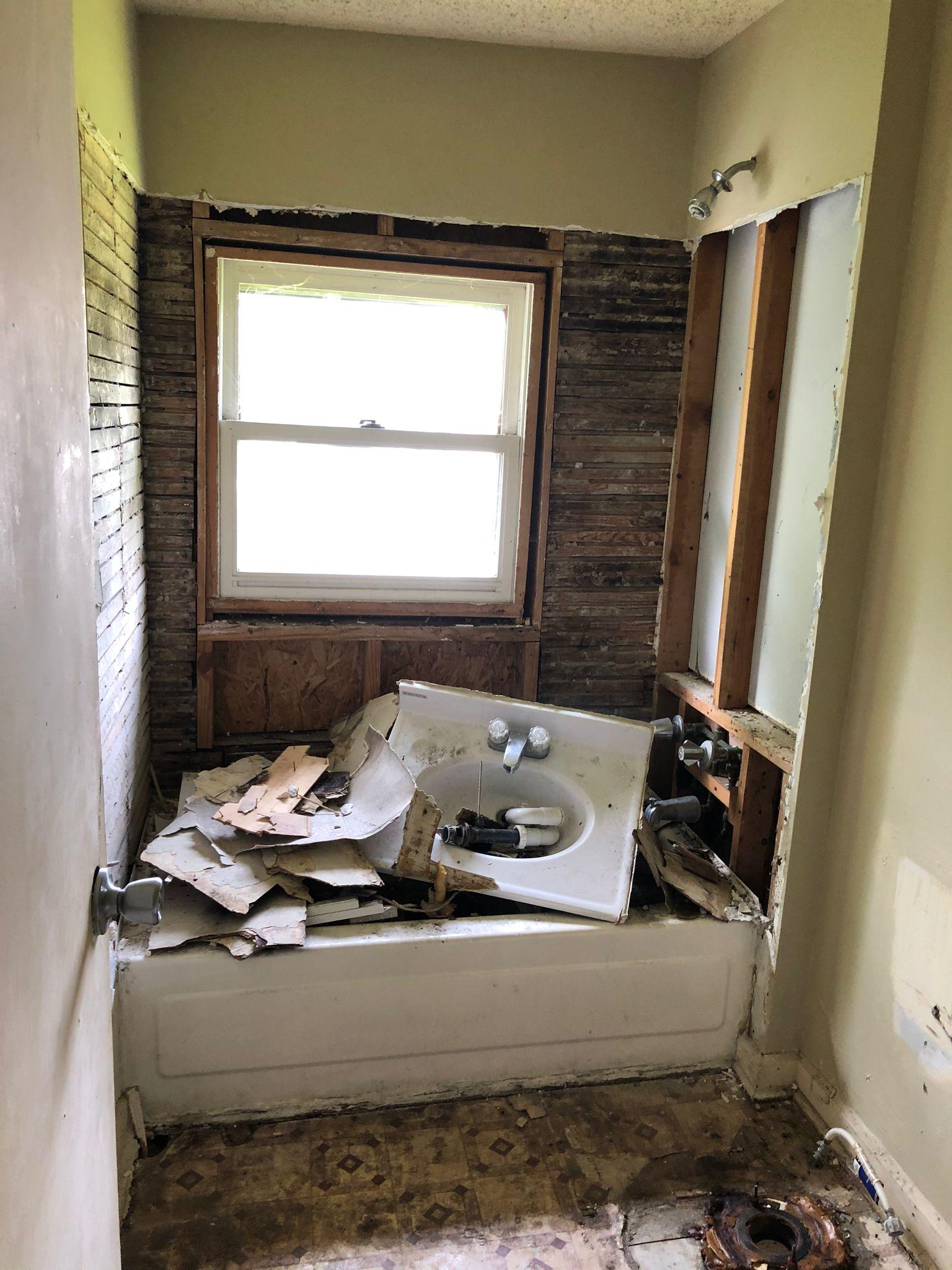 Indy duplex rehab bathroom