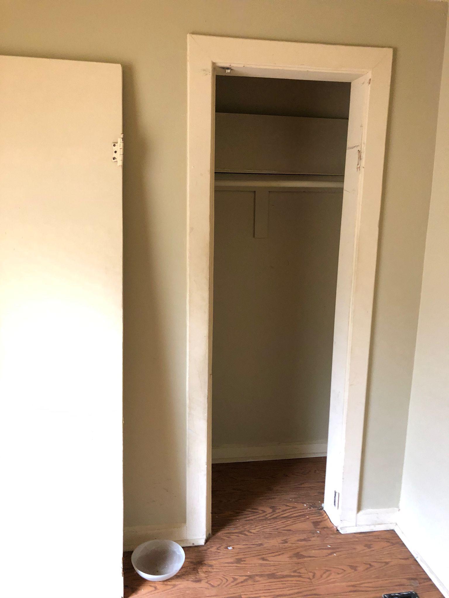 Indy duplex rehab closet