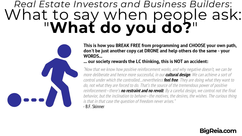 BF Skinner quote on mentally breaking free - BigReia.com