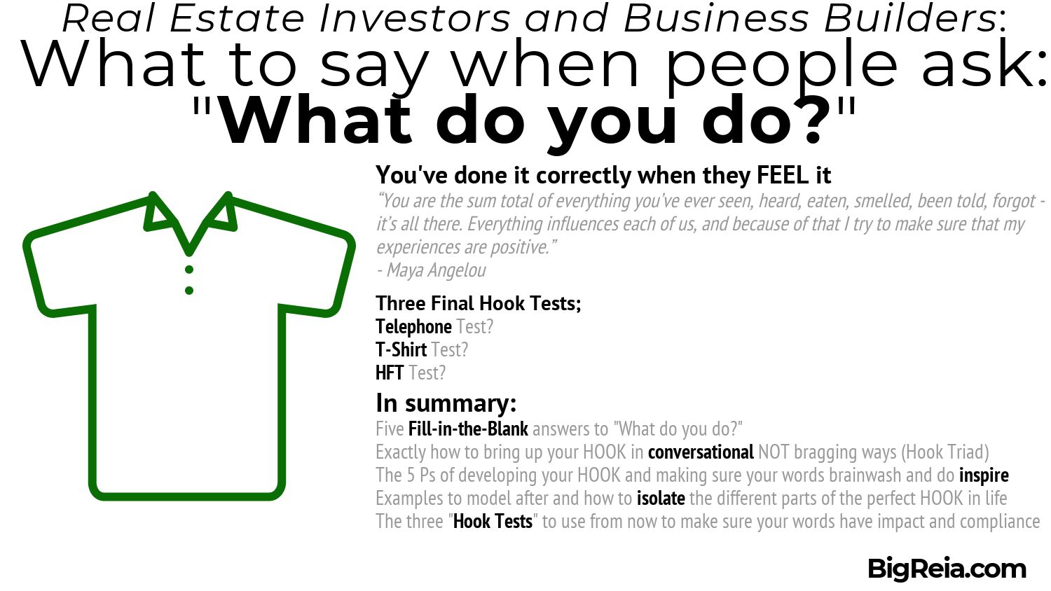 Three Hook Tests to make sure you are saying it right with impact