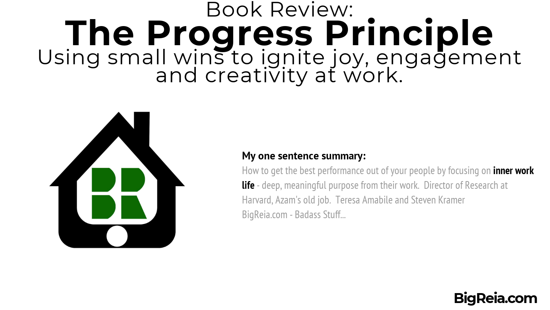 The Progress Principle book review one sentence summary