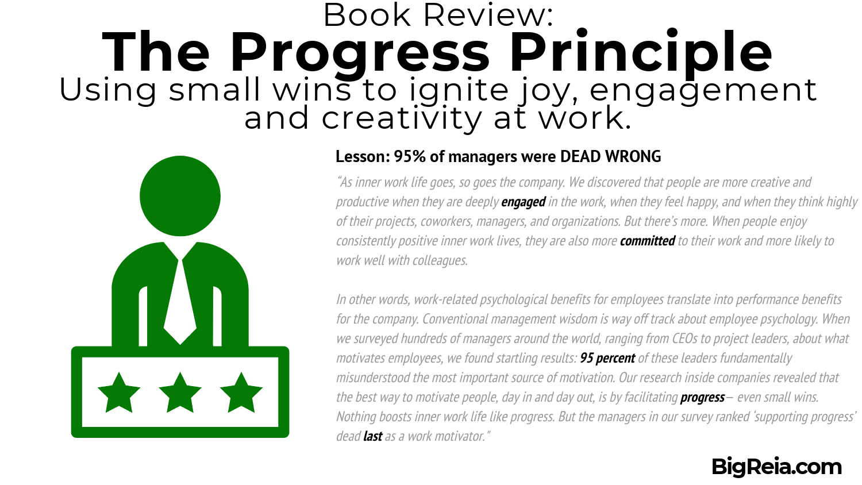 The Progress Principle book review - CEO research
