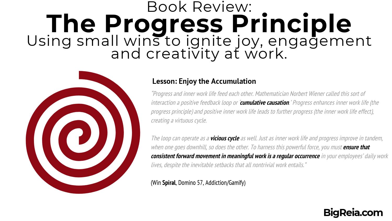 The Progress Principle - Book review making wins - BigReia.com