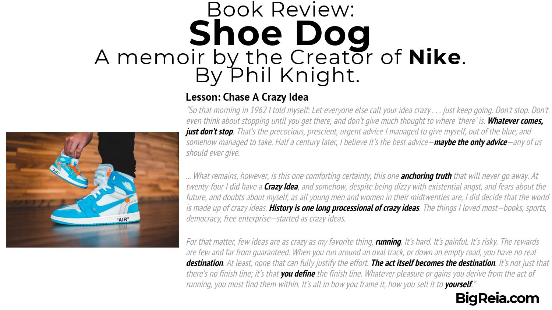 Shoe Dog book review excerpt BigReia.com