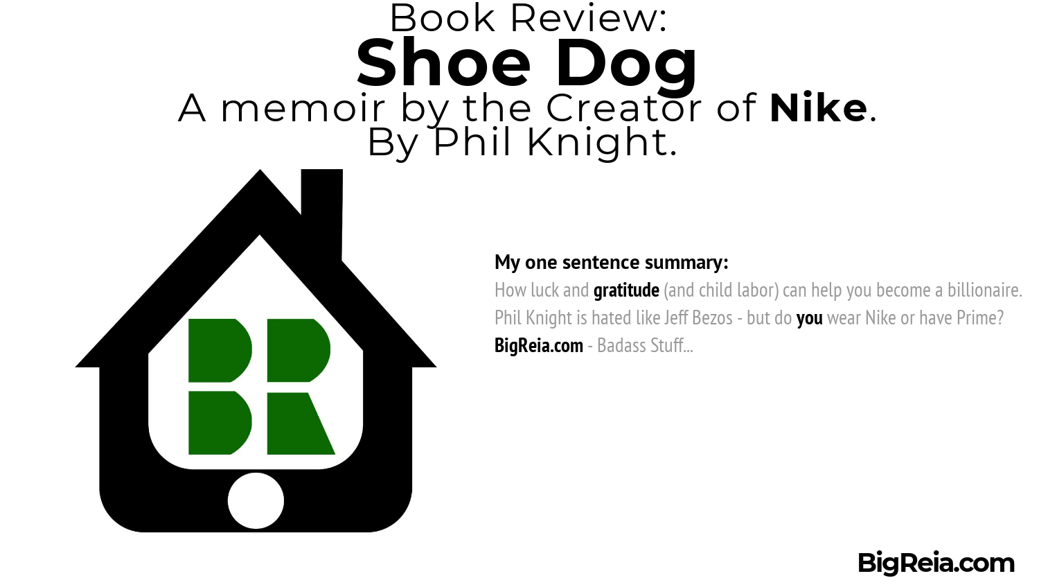 One sentence book review of Shoe Dog