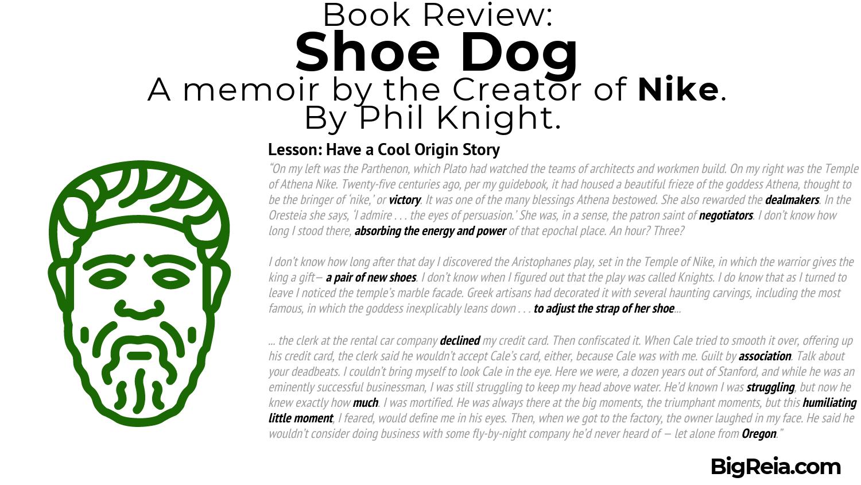 Nike origin story excerpt from Shoe Dog