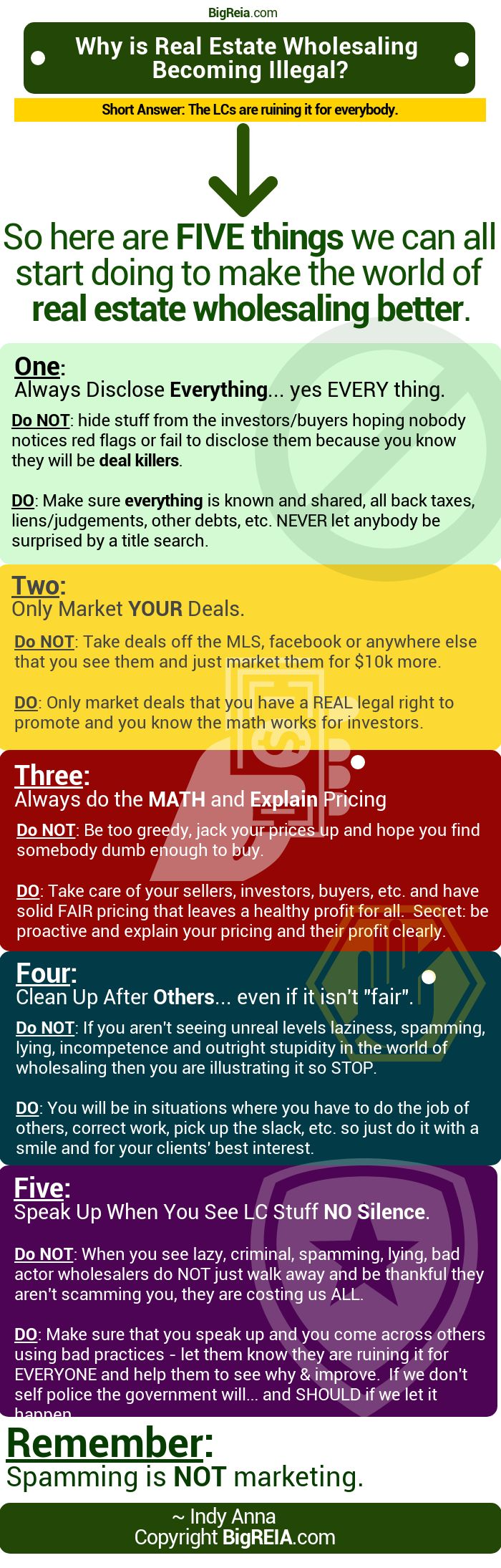 Five wholesaling mistakes to avoid to stay legal BigReia.com