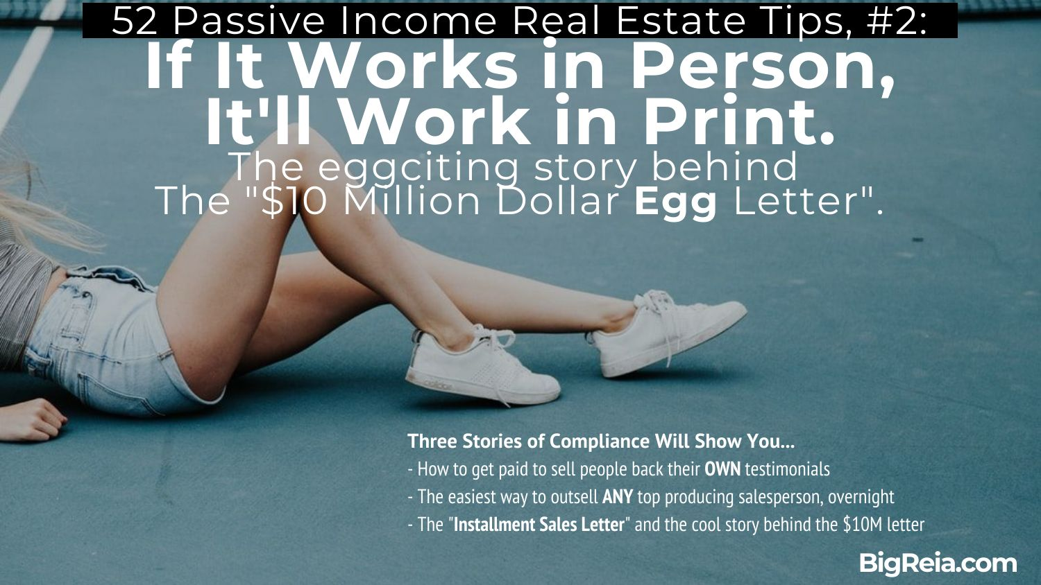 Introduction to the 10 million egg letter and copywriting for real estate investors - BigReia.com