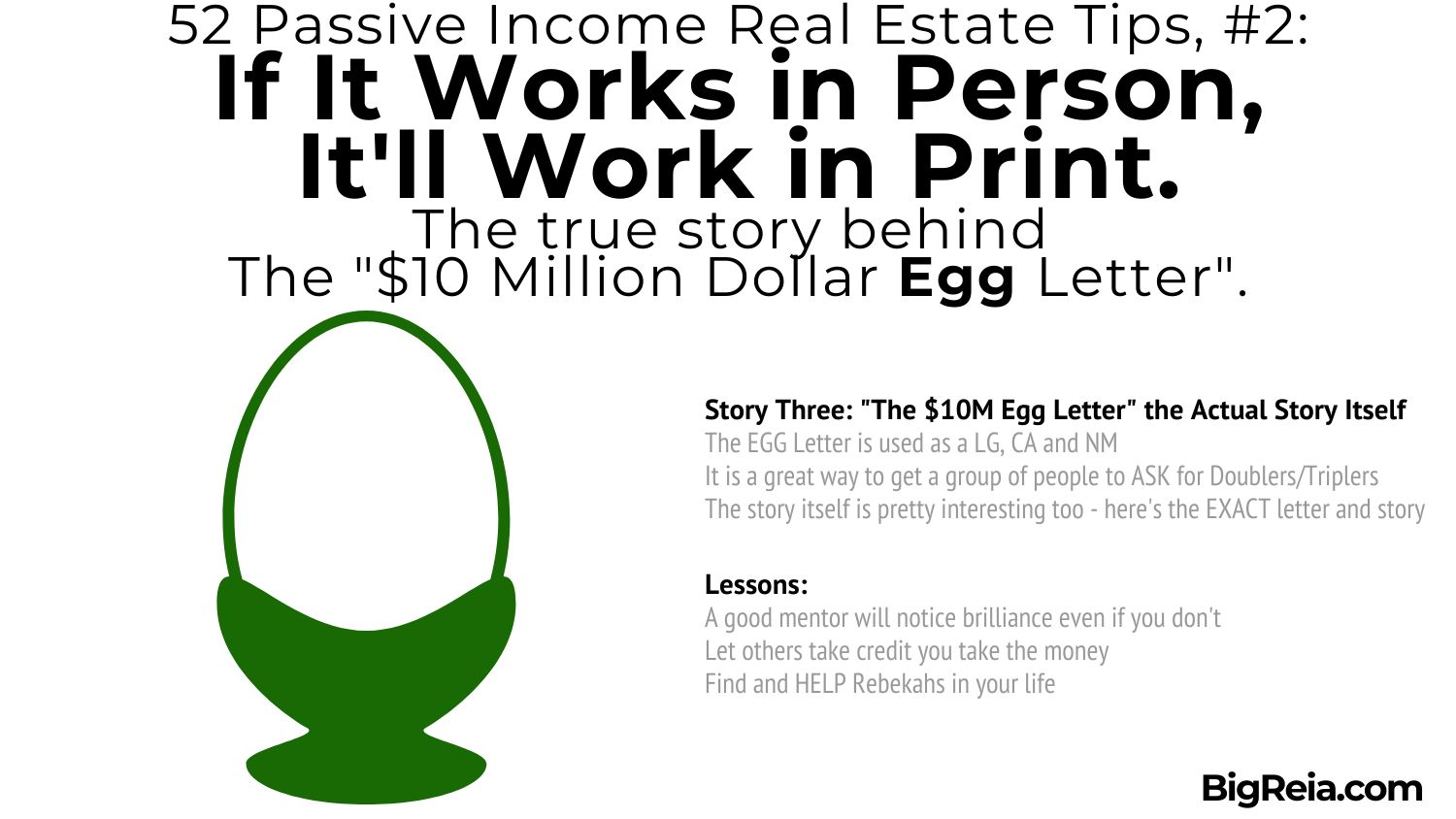 """The story behind how we use the """"Egg Letter"""" and the actual letter itself"""
