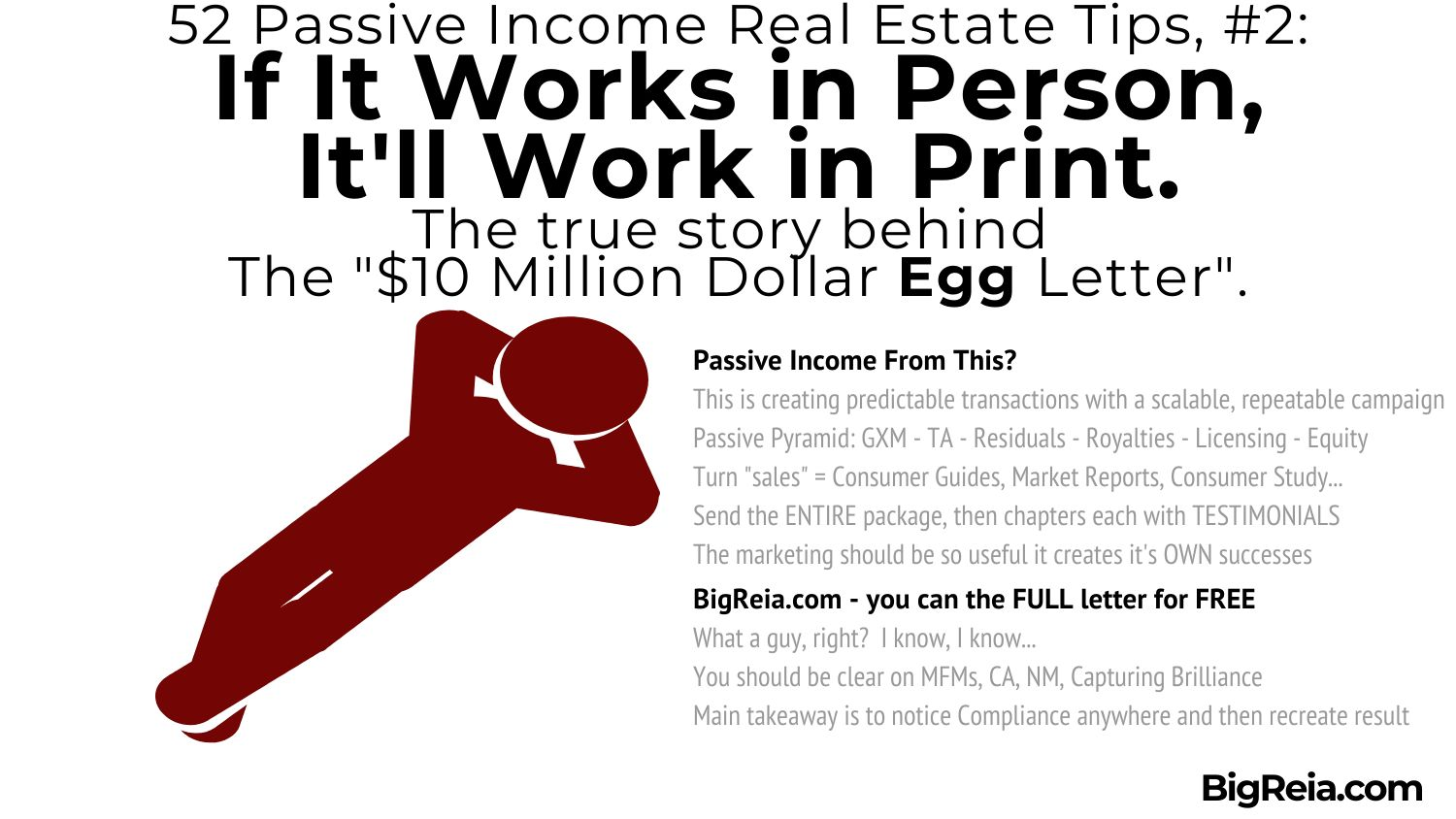 How to use this 10 million letter to create passive income - BigReia.com