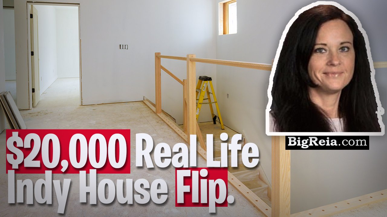 Indy house flipping example, here's a $20,000 flip from start to finish, Indy real estate live deal.