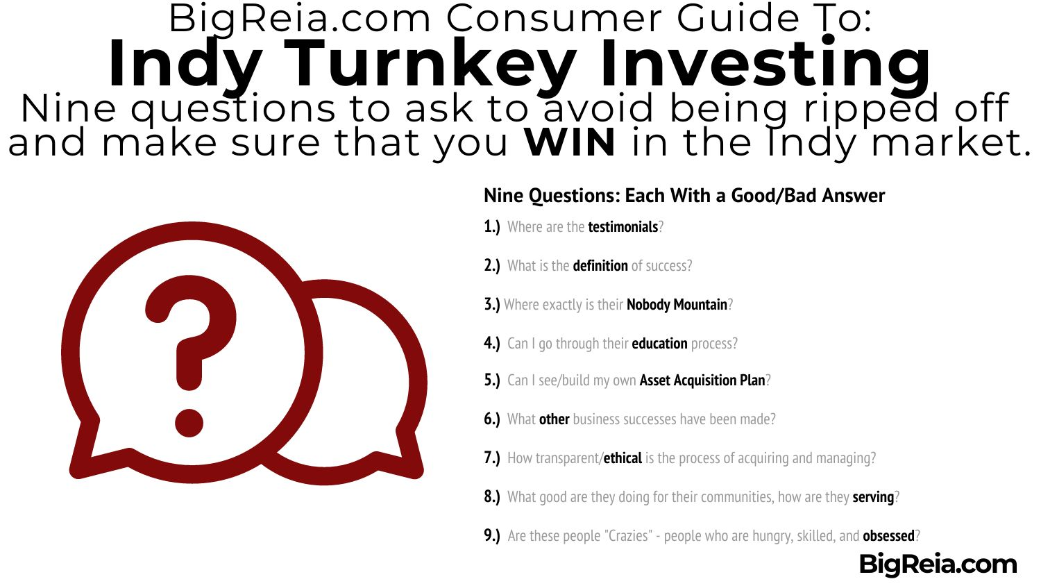 Nine questions to avoid Indiana turnkey scams