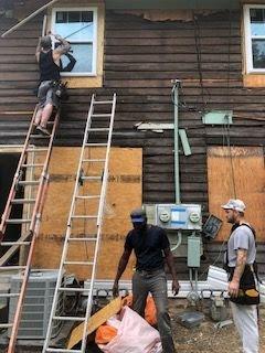 Exterior siding rehab Indy duplex flip