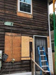 Indy duplex flip siding repair
