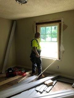 Upstairs window rehab with Indy duplex