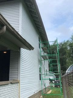 Indy duplex rehab flip siding