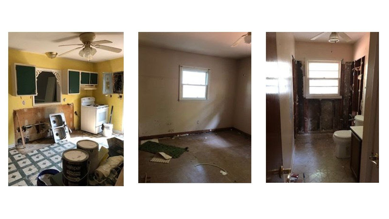 Indy real estate flip example during pictures interior