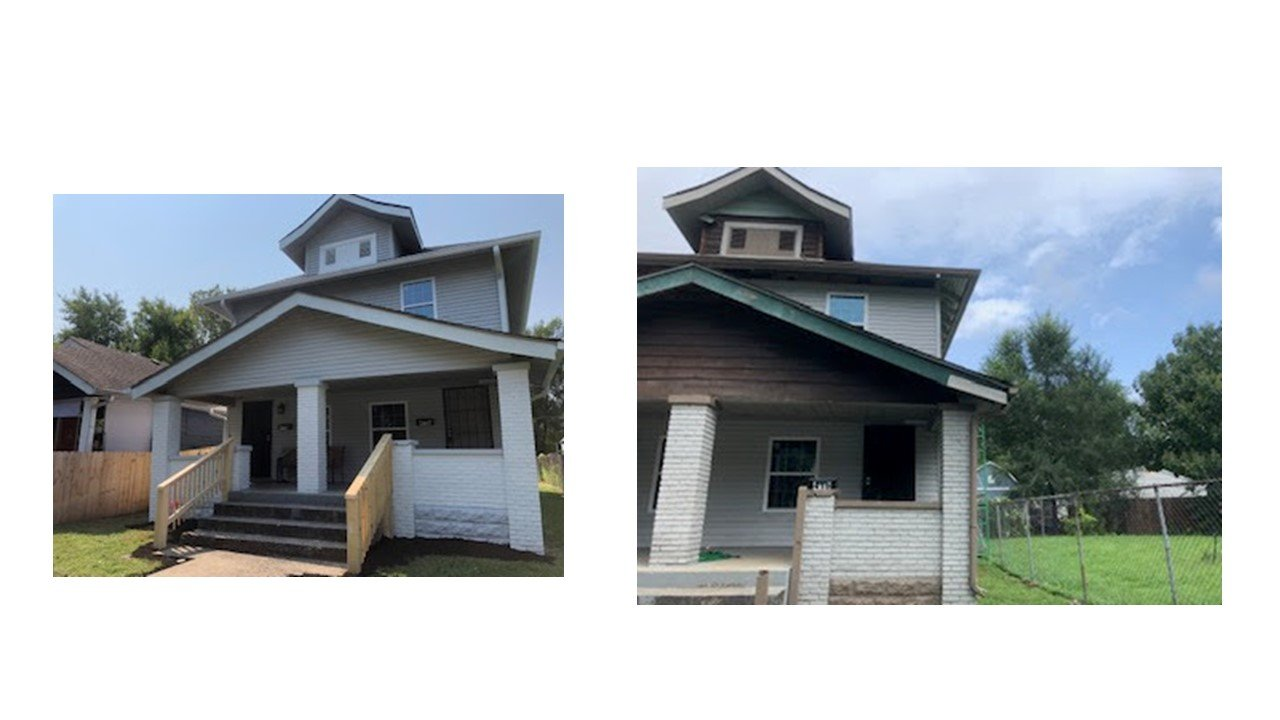 Indy Real Estate Turnkey Investing Flip Example During pictures of exterior