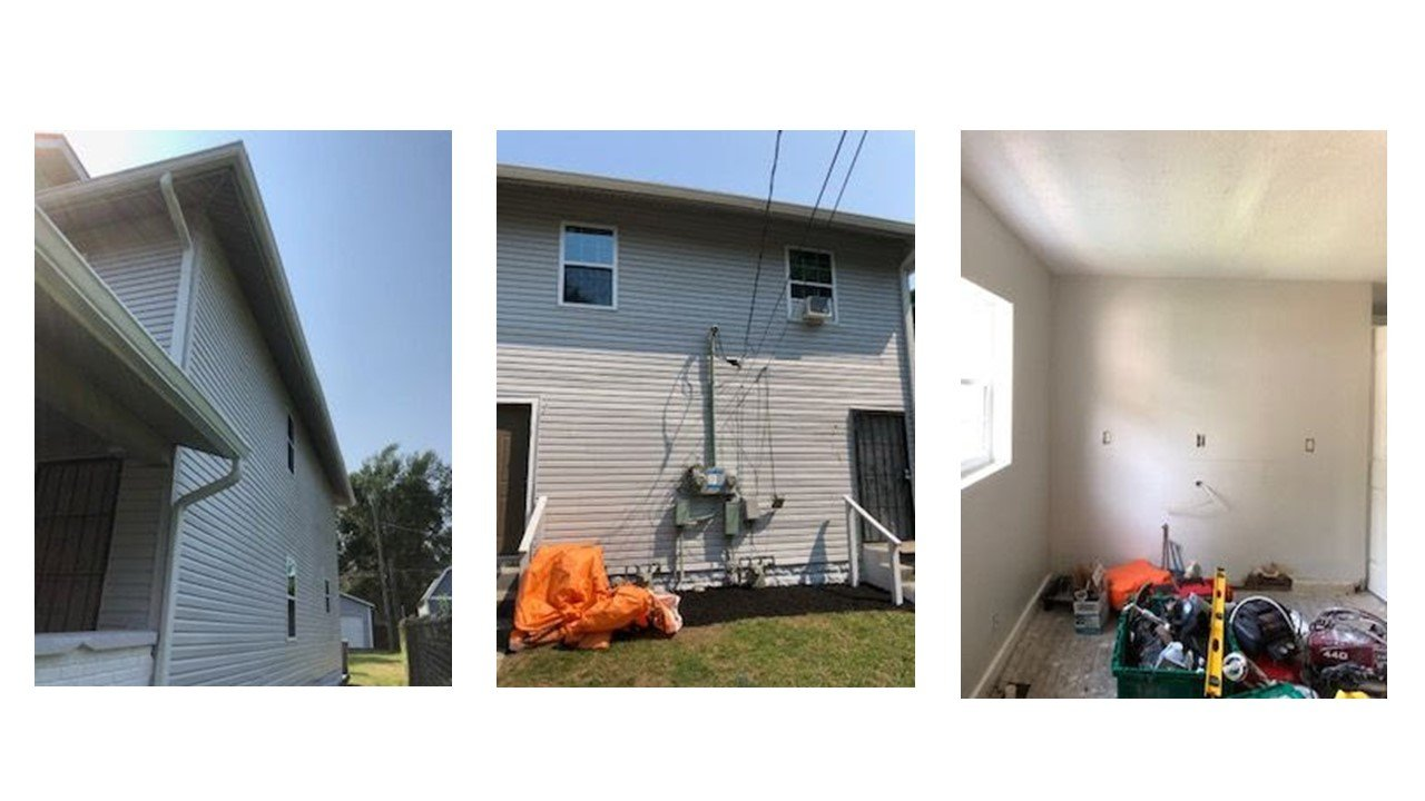Indy real estate flip during pictures side and bedroom